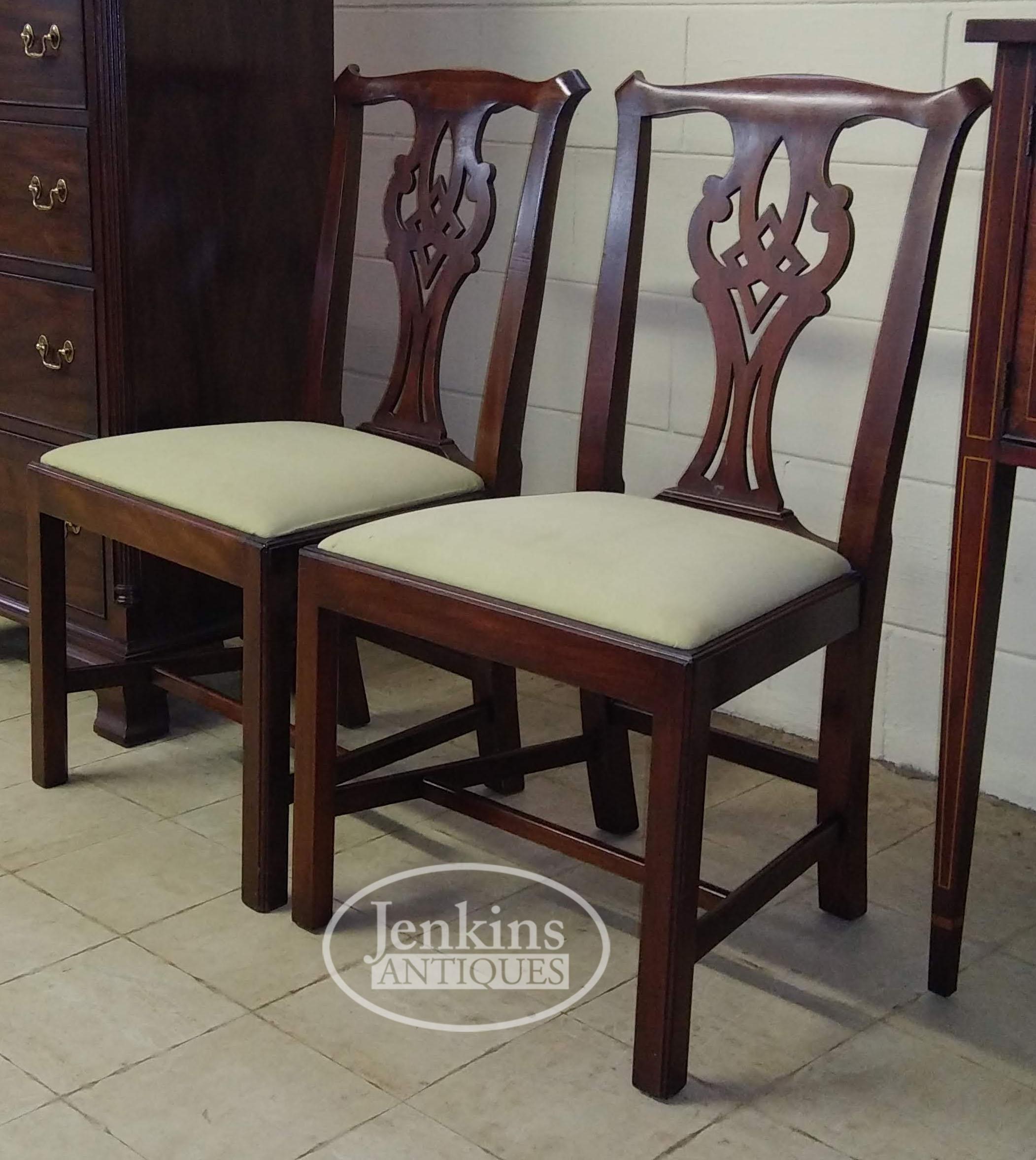 Henkel Harris Chippendale Dining Chairs Pair Jenkins