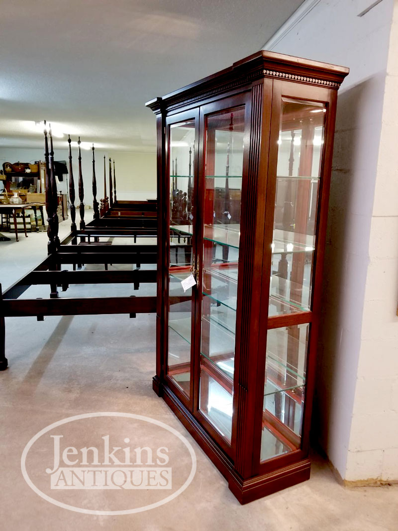 Craftique Mahogany Lighted Display Cabinet Jenkins Antiques