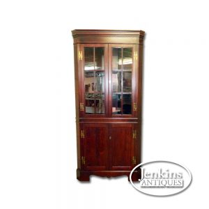 Craftique Mahogany Corner Cabinet Offered by Jenkins Antiques