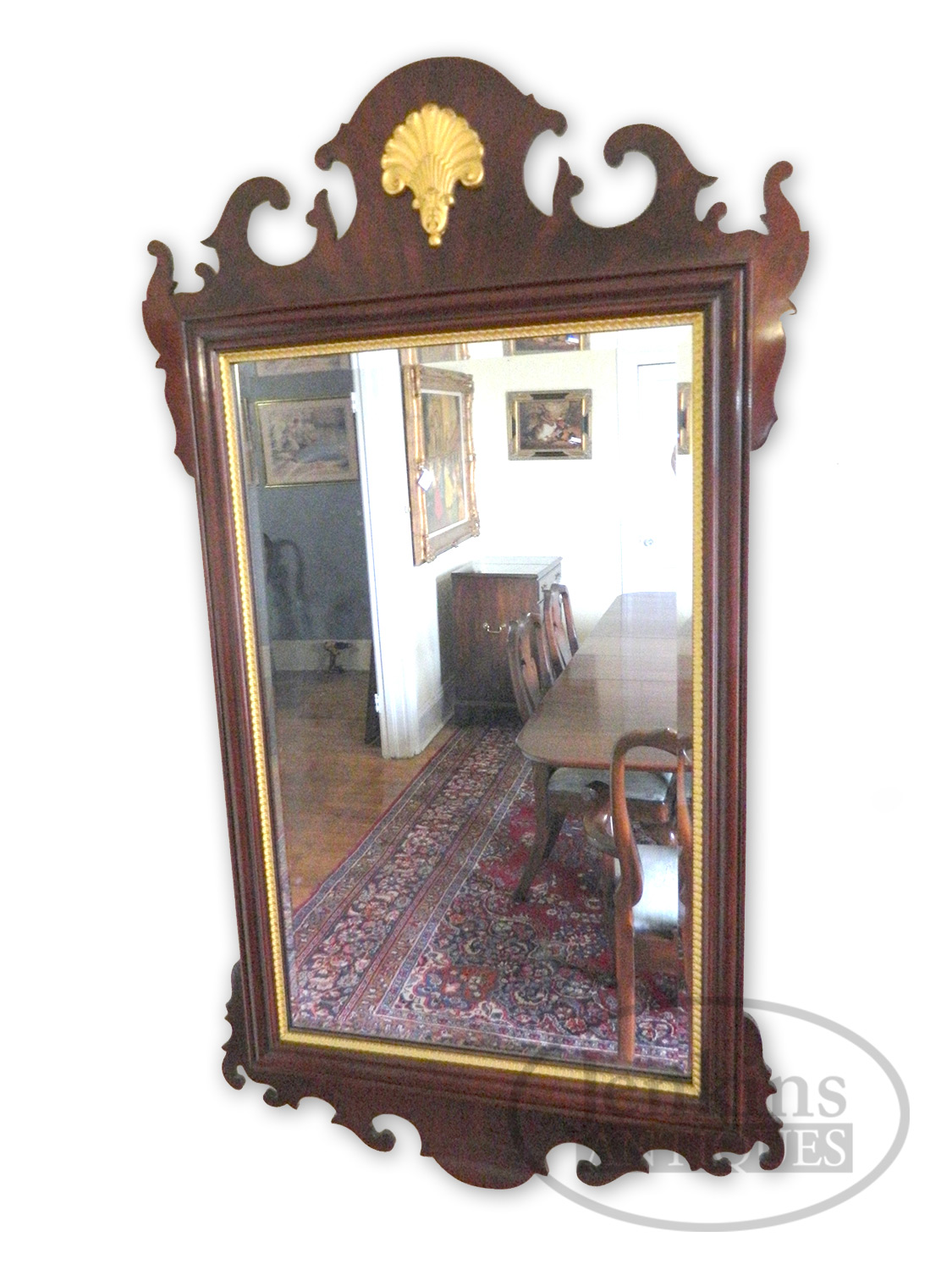 CC Handmade Solid Mahogany Mirror offered by Jenkins Antiques