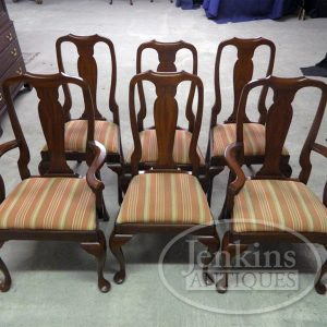 Henkel Harris Queen Anne Cherry Chairs Set of 6