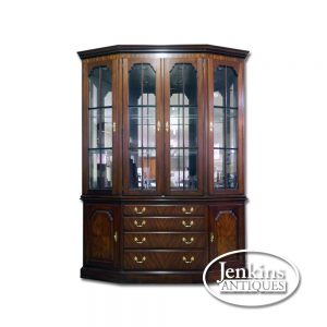 HH Solid Mahogany China Cabinet Offered by Jenkins Antiques
