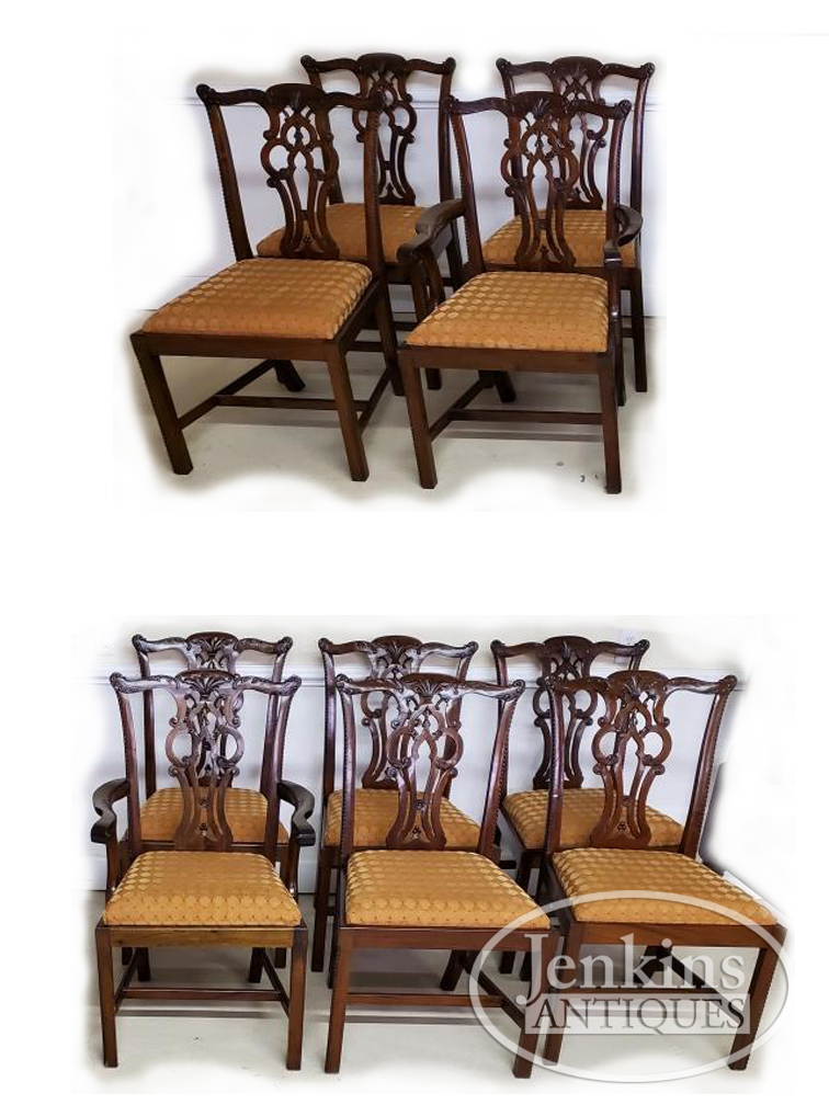 Maitland Smith Chippendale Chairs - Set of 10